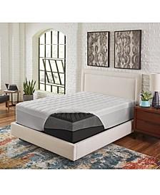 "5"" Comfort Loft Big Bump Convoluted Ebonite Full Memory Foam with Peachy Fiber Topper Cover"