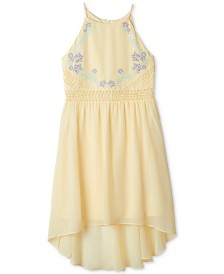 BCX Big Girls Embroidered High-Low Hem Dress