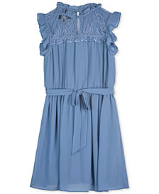 BCX Big Girls Ruffle-Trim Lace Dress