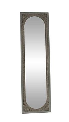 "Modern 71"" x 20"" Rectangular Wooden Floor Mirror"