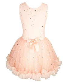 Little Girls Metallic Stars Dress