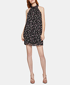 BCBGeneration Floral-Print Mock-Neck Dress