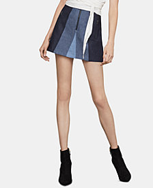 BCBGMAXAZRIA Colorblocked Mini Skirt