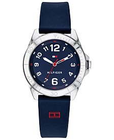 Kid's  Navy Silicone Strap Watch 34mm Created for Macy's