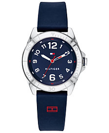 Tommy Hilfiger Men's  Navy Silicone Strap Watch 34mm Created For Macy's