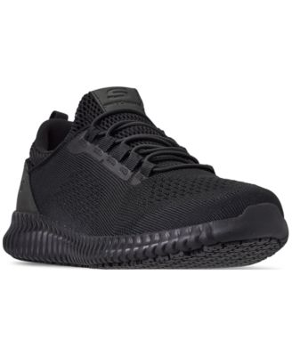 all black skechers running shoes