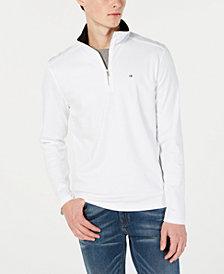 Calvin Klein Men's Solid Quarter-Zip Sweater