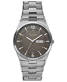 Men's Melbye Gunmetal Stainless Steel Bracelet Watch 40mm