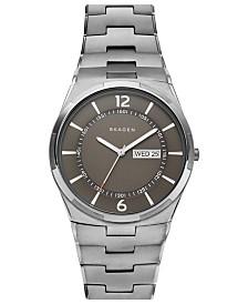 Skagen Men's Melbye Gunmetal Stainless Steel Bracelet Watch 40mm