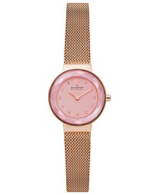 Women's Leonora Rose Gold-Tone Stainless Steel Mesh Bracelet Watch 25mm