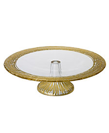 Classic Touch Trophy Glass Cake Stand