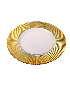 Classic Touch Trophy Charger Plates-Set of 4