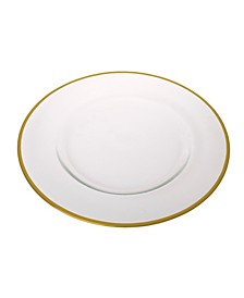 Clear Glass Charger Plates-Set of 4