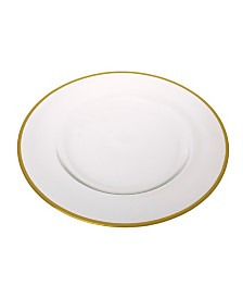 Classic Touch Clear Glass Charger Plates-Set of 4