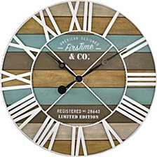 Firstime and Co. Maritime Planks Wall Clock