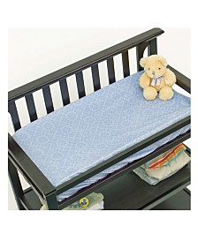 3Stories Nurture Blue Geo Changing Pad Cover