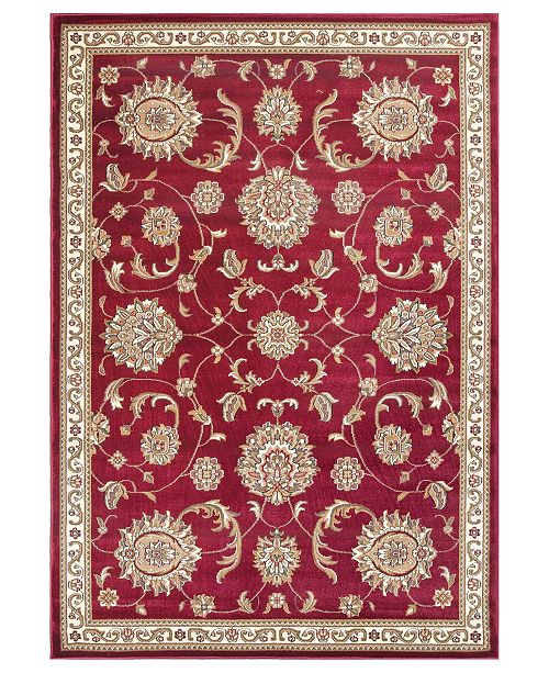 "Kas CLOSEOUT! Cambridge Allover Mahal 7355 Red 2'3"" x 3'3"" Area Rug"