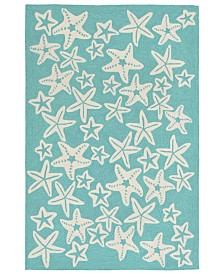 "Liora Manne' Capri 1667 Starfish 3'6"" x 5'6"" Indoor/Outdoor Area Rug"