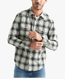 Lucky Brand Men's Regular-Fit Western Plaid Shirt
