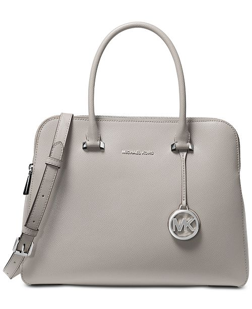 sale online fashion style choose newest Houston Double Zip Crossgrain Leather Satchel