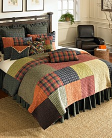 Woodland Square Cotton Quilt Collection, Queen