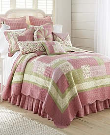 Bashful Rose Cotton Quilt Collection, Queen