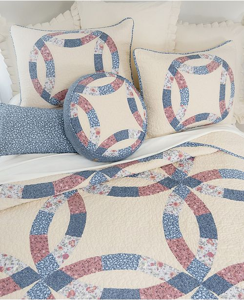 American Heritage Textiles Michelle Wedding Ring Cotton Quilt Collection, King