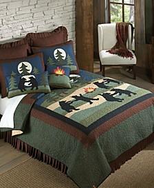 Bear Dance Cotton Quilt Collection, Queen