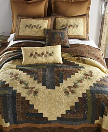 Cabin Raising Pine Cone Cotton Quilt Collection, Twin