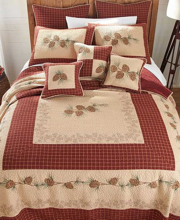 American Heritage Textiles Pine Lodge Cotton Quilt Collection, King