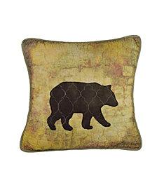 Wood Patch Decorative Bear Pillow
