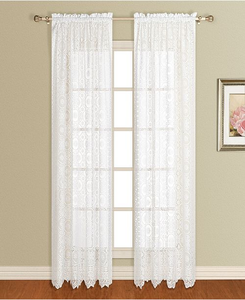 "United Curtain Co Inc New Rochelle 56"" X 63"" Window Panel"