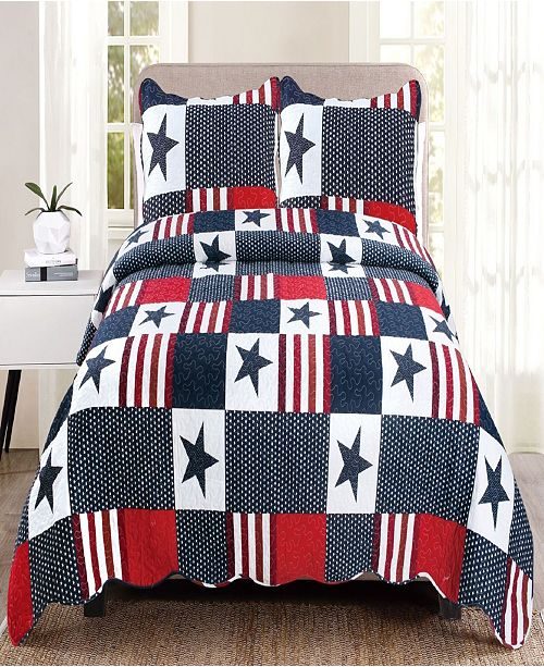 United Curtain Co Inc Americana Twin Quilt Set Amp Reviews