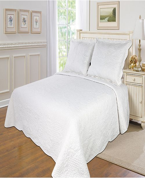 United Curtain Co Inc Quinn Solid Twin Quilt Set