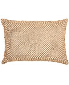 Inspire Me! Home Decor Beaded Lattice Cream Throw Pillow