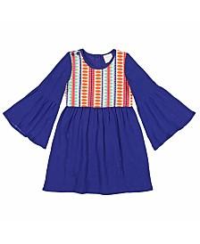 Masala Baby Girls Simple Dress Jacquard
