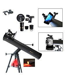 800 X 80 Telescope with Red Led Observation Light and Smartphone Adapter