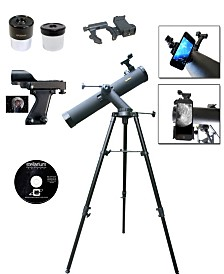 Cassini 800mm X 90mm Astronomical Tracker Mount Telescope and Smartphone Adapter
