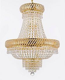Empire Crystal 9-Light Gold Chandelier