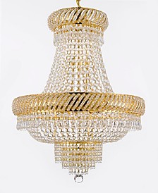 Empire Crystal 9-Light Gold Chandelier