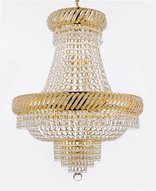Harrison Lane Empire Crystal 9-Light Gold Chandelier