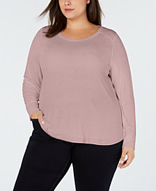 I.N.C. Plus Size Ribbed Shirttail Sweater, Created for Macy's