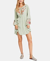 Free People Spell On You Embroidered Keyhole Dress dfe653d89