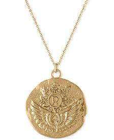 "RACHEL Rachel Roy Gold-Tone Unicorn Reversible Pendant Necklace, 30"" + 2"" extender"