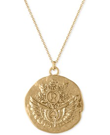 "RACHEL Rachel Roy Gold-Tone Unicorn Reversible Pendant Necklace, 30"" + 2"" extender"