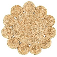 LR Home Natural Natural Jute Disks Placemats - Set of Two