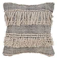 LR Home Fringe Cozy Throw Pillow
