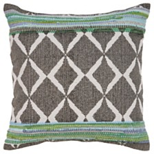 LR Home Geometric Chevron Throw Pillow
