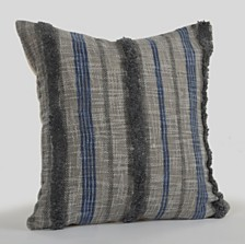 LR Home Over tufted Striped Contemporary Nautical Throw Pillow