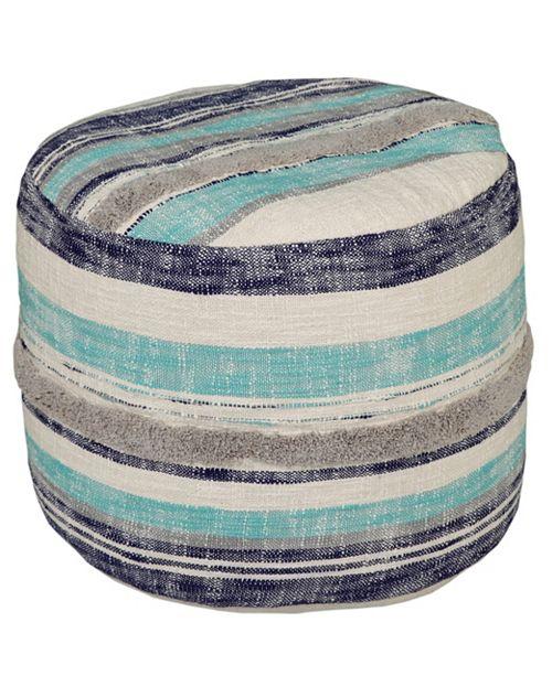 Lr Home Coastal Stripe Pouf Amp Reviews Home Macy S
